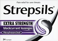 Strepsils Extra Strength blackcurrant lozenges