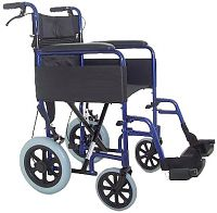 Lightweight aluminium folding transit wheelchair