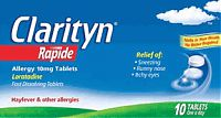 Clarityn Rapide Allergy, pack of 10 tablets