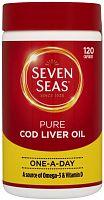 Seven Seas pure cod liver oil capsules tub