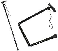 Adjustable Aluminium Folding Walking Stick Pole