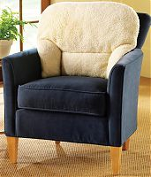 Fleece Back Rest Armchair Cushion