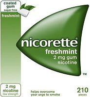 Nicorette coated chewing gum box