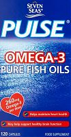 Seven Seas Omega-3 pure fish oil capsules box