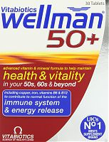 Vitabiotics Wellman 50+ vitamin and mineral supplement tablets