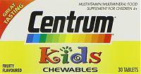 Centrum Kids chewable multivitamins