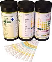 Tubs of urinalysis sticks