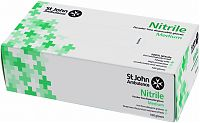 Box of 100 St John Ambulance Nitrile Powder-Free Gloves - Medium