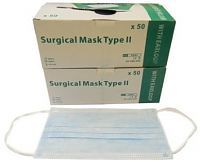 Pack of 100 Surgical Face Masks With Earloop