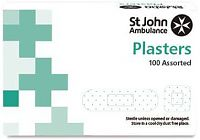 Pack of 100 Assorted Detectable Plasters