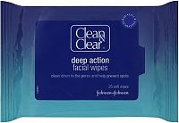 Clean & Clear Deep action facial wipes packet