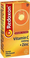 Redoxon Vitamin C & Zinc orange effervescent tablets box