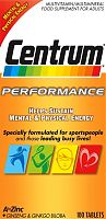 Centrum Performance multivitamin tablets box
