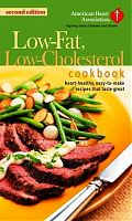 AHA Low-fat, low-cholesterol cookbook cover